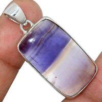 Rare Purple Fluorite  925 Sterling Silver Pendant Jewelry AP117154