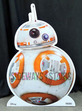 official STAR WARS BB-8 LIFE-SIZE STANDEE cardboard retail display Disney RARE