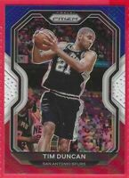 🏀🔥 2020-21 Prizm Tim Duncan Red-White-Blue Prizm #30 San Antonio Spurs 🔥 🏀