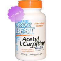 Doctor's Best, Acetyl-L-Carnitine, 500 mg, 120 Veggie Caps Doctors Capsules