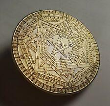 John Dee Occult Collecter's Coin - Monas Hieroglyphica and Sigilum Dei symbols