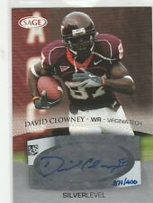 2007 SAGE DAVID CLOWNEY SILVER RC AUTOGRAPH #/400 VA TECH AUTO