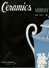 "Vintage ""Ceramics Monthly"" Magazine: May 1954 , Josiah Wedgwood"