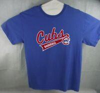 GILDAN Vintage-Style CHICAGO CUBS BASEBALL SHORT SLEEVE BLUE T-SHIRT MENS SZ MED