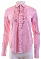 RALPH LAUREN Womens Shirt US 8 Medium Pink Striped Cotton  EL06