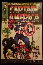 CAPTAIN AMERICA #100  BIG PREMIERE ISSUE BLACK PANTHER VG+ IST SOLO EDITION
