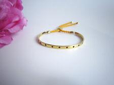 Monica Vinader Fiji friendship bracelet. Yellow gold vermeil with gemstones.