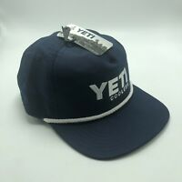 NEW Yeti Coolers Mens Rope Hat Navy Blue Baseball Cap One Size MSRP 24.99
