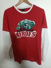 Mens Ultimate Heroes Long Sleeve Crew Neck Fitted T Shirt Size L Large