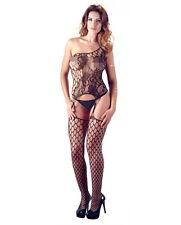 coordinato tuta rete perizoma intimo donna bodystocking con calze e perizoma