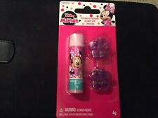BN New Sealed Disney Minnie's Mouse Strawberry Lip Balm & 2 Hair Clips