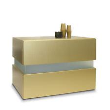 Table de chevet de nuit Commode Meuble armoire tiroirs 60cm Flow en optique d'Or