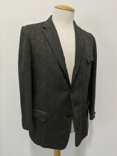 Vintage 1960's Men's Wool Tweed Riding Coat Equestrian Coat Striped Three Button