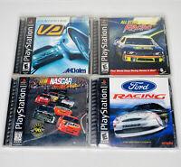 Ps1 Lot Of 4 Playstation 1 Car Racing Games Bundle NASCAR FORD - TESTED WORKS