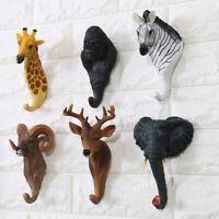 Resin Animal Deer Stags Head Hook Hanger Rack Holder Wall Mount Home Room Decors