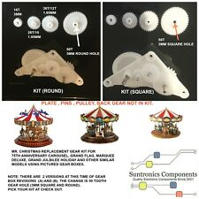 MR. CHRISTMAS MARQUEE DELUXE,75TH ANNIVERSARY CAROUSEL PLASTICGEARS KIT