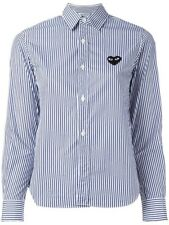 Comme Des Garcons Play Embroidered Heart Striped Shirt Button Down XS
