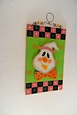 Wood Halloween Ghost Trick Or Treat Decoration