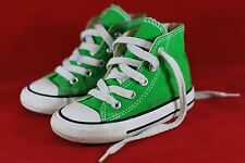 Converse Boys shoes Chuck Taylor Green/ White Laces Size 6 for Infants Toddlers