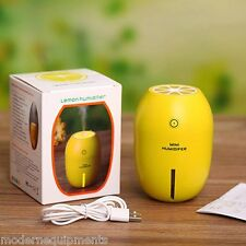 Ultrasonic Humidifier Lemon LED Night Light Diffuser Air Purifier Mist Generator