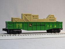 LIONEL JOHN DEERE GONDOLA O GAUGE train farm haul equipment crates 6-83286-G NEW