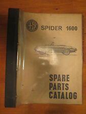 Alfa Romeo Spider 1600 Spare Parts Catalog