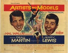 """ARTISTS AND MODELS 11"""" x 14"""" Movie POSTER Dean Martin Jerry Lewis"""
