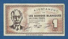 AJUNTAMENT DE LES BORGES BLANQUES -- 1 PESETA SIN FECHA -- MBC+ -- 2ª EMISION .