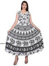 Indian Women Maxi Dress Long Hippie Cotton Gypsy Bohemian Floral Kurti Handmade