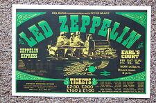 Led Zeppelin Concert Tour Poster 1975 UK