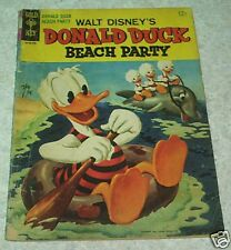 Walt Disney's Donald Duck Beach Party 1 VG- (3.5) Rival Boatmen! 50% off Guide!