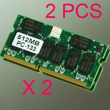 1GB 2 x 512MB PC133 133MHZ 144pin SDRAM Sodimm Laptop Notebook Memory 16 Chips