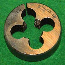9/16 X 18 NF TUNGSTEN 1 1/2'' DIAMETER ROUND ADJUSTABLE DIE- USED (E-2-12-1-36)