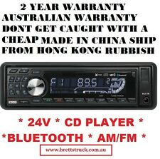 24V RADIO MULTI-VOLT AM/FM 24 V  BLUETOOTH CD PLAYER MP3 RECEIVER TRUCK ISUZU