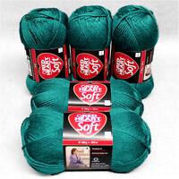 500g (18€/kg) Red Heart ⭐SOFT ARAN⭐ 09 petrol Glänzend weich Schachenmayr Wolle