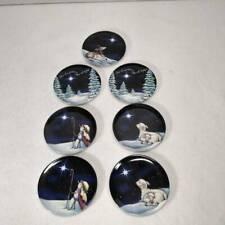 MWW Market Set Of 7 Holiday Christmas Lamb Snowman Star Of Wonder Mini Plates