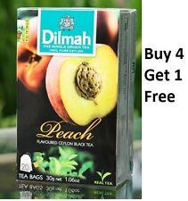 Dilmah Peach Flavoured Ceylon 20 Tea Bags (30g 1.06 Oz) Buy 4 Get 1 Free