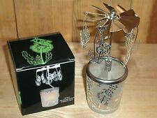 Glas-Karussell-Windlicht Pusteblume, silber in Geschenkverpackung ca. 15 cm