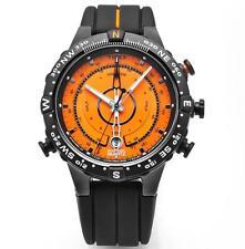 Timex T49706 Intelligent Quartz Orange Dial Tide-Temp-Compass Silicone Strap