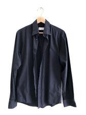 YVES SAINT LAURENT Black Embroidered Logo Shirt Sz M POUR HOMME