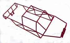 T-Maxx 4908 or 4907 Stainless Steel Red Powder Coated Full Roll Cage NEW