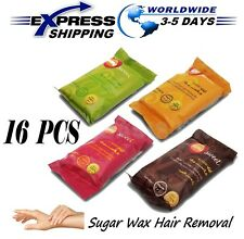 16 X 50gm Sweet Packets Sugaring Sugar Wax Hair Removal 100% Natural All Essence