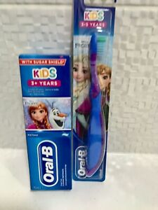 Oral B Kids Disney Frozen Toothpaste/Toothbrush Set (Elsa) 3-5 Years