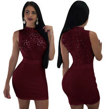 Sexy Women Solid Sequin Mesh Sleeveless Summer Casual Club Mini Dress Vestido