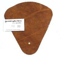 Pueblo Curry Brown Scrap OIL RUB Leather Craft Piece aprox. .25 sqft  TD95