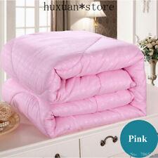 White Pink Mulberry Silk Comforter Blanket Bedspread Duvet Bedclothe Quilt Fille