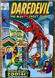 DAREDEVIL THE MAN WITHOUT FEAR! COMIC (MARVEL,1971) #73 BRONZE AGE ~
