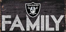 """Oakland Raiders FAMILY Football Wood Sign - NEW 12"""" x 6""""  Decoration Gift"""