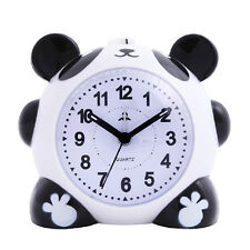 US Cute Cartoon Panda Alarm Clock Night Light Silent Gift for Kids Students New