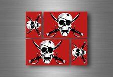 4x adesivi adesivo sticker bandiera vinyl tuning pirata teschio pirati r3